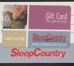 $484 Sleep Country Canada Gift Card for trade