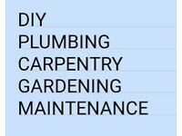 uk couple 30 yrs DIY, Plumbing, Carpentry, Garden work, reliable. TISBURY area