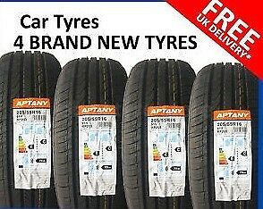4 x Brand new Aptany RP203 TL 205/55R16 tyres free fitting or postage!