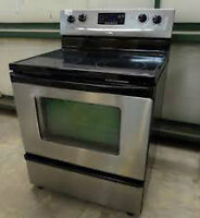 Stainless and Black Self Clean STOVE $320  - Used Appliance SALE