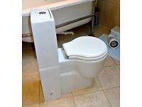 EOS toilet with built in cistern. Compact