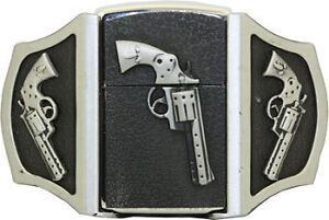 Western Gun Pistols Vintage LIGHTER Belt Buckle combo
