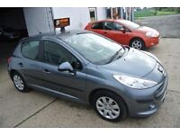 PEUGEOT 207 SPORT, FULL SERVICE HISTORY, MOT 10 MONTHS, AIR CON, HPI CLEAR