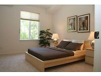 Ikea MALM double bed - white stained oak veneer