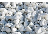 White Marble 20mm Garden Chips