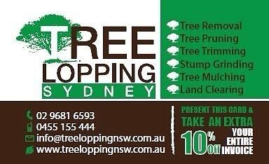 Tree removal and stump grinding 25% off Hornsby Hornsby Area Preview