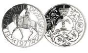 Queen Elizabeth II Crown Silver Jubilee