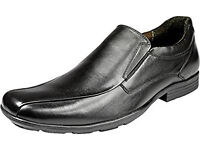 BRAND NEW POD SPECIAL DURHAM SLIP ON SHOES MENS BOYS BLACK SIZE UK 6 EU 39