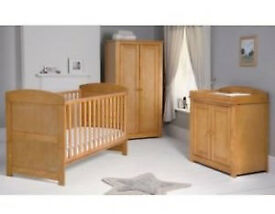 Mamas and Papas nursery furniture 3 piece set, cot bed, wardrobe & changer unit