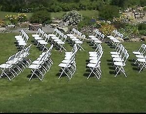 White Folding Chairs And Tables * Calgary Party And Wedding Rent