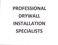 Drywall installation & repairs