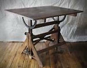 WANTED; old wooden drafting table like in photo for art project