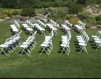 White Folding Chairs And Tables * Calgary Party Rentals
