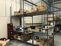 31 BAYS OF BOLTLESS SHELVING WITH ALL BOARDS INCLUDED