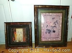 Two Framed Floral Prints