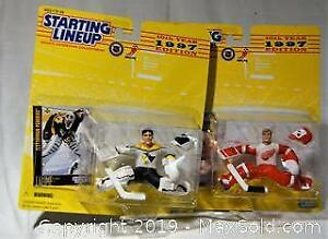 Starting Lineup Hockey Sports Superstar Collectibles. Patrick Lalime and Chris Osgood.
