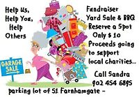 YARD SALE  FUNDRAISER AND BARBECUE