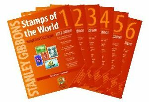 2012 Stanley Gibbons Stamps of the World Set of 6 Colour Stamp Catalogues