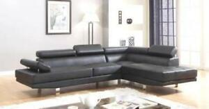2 PC FAUX LEATHER SECTIONAL $798