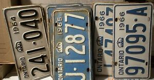 License Plates, mostly Ontario from 1929 t0 1980 100's in total Belleville Belleville Area image 5