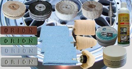 Drill mounted polishing kit