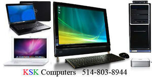 PC Mac Computer Repair LCD Screen Repair Virus Clean Montreal