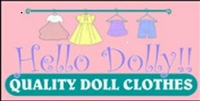 Hello Dolly Doll Clothes