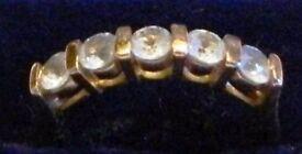 Yellow Gold / Topaz Half Eternity ring