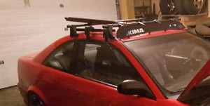 Yakima roof rack with extension