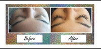 Free eyelash extensions, refer two friends