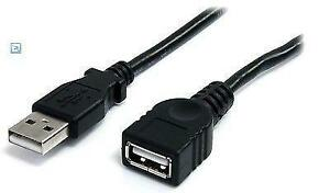6 ft. StarTech Black USB 2.0 Extension Cable A to A - M/F - USBE