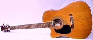 """HOHNER"" LEFTHAND ACOUSTIC/ELECTRIC CUTAWAY GUITAR with SOFTCASE West Island Greater Montréal image 2"