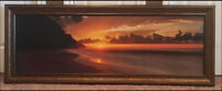 Sunset picture w/ frame