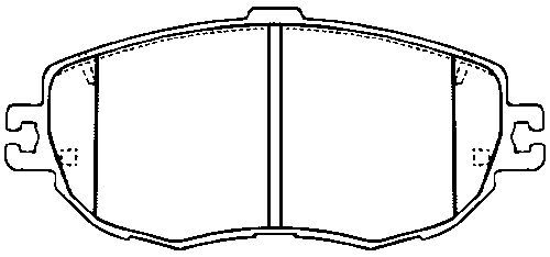 Lexus GS300 93-97, LS400 (241bhp) 92-94, 4.0i V8 (280bhp) 97-Front Brake Pad Set