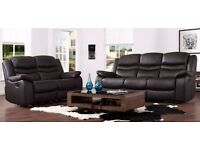 NOW 40% OFF!!! BRAND NEW LEATHER 3 + 2 RECLINER!!! CHEAPEST IN TOWN!!!