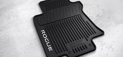 NEW OEM 2014-2016 NISSAN ROGUE 4 PC ALL WEATHER RUBBER FLOOR MATS - BLACK