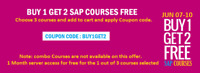 BUY 1 GET 2 FREE : Learn 3 courses @ 1 course fee
