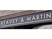 Apprentice Hairdresser, Stylists & Chair rental available at Reavey & Martin Hairdressing Salon.
