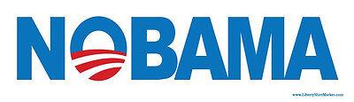 - NOBAMA Anti Obama Bumper Sticker Conservative Decal Republican Right Wing