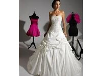 Strapless Ivory Eternity Bride Wedding Dress (Size 8-10) with Sweetheart Neckline and Lace Up Back