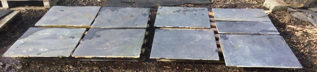 Several Large Slate Garden Tiles 60cm x 60cm