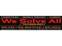 Mobile Phone * Computer * Tablet * Gaming Console * PC * Repair Service * Free Parking