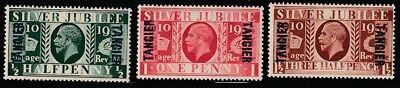 GB-Morocco-Tangier  1935   Sc # 508-10   Silver Jubilee   VLH  (4049-1)