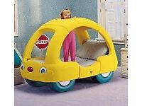 little tikes childrens bed £85ono kids boy girl play single toy car bus caravan bedroom furniture
