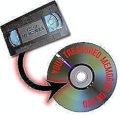 Convert VHS & 8 mm tapes to DVD - $10 each