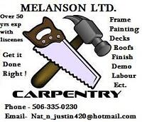 MELANSON CARPENTERY PRO ... interior,extior,decks,paint,Flooring