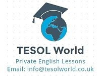 Private English lessons with qualified and professional tutor (TESOL World)