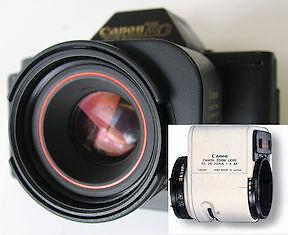 Main - Canon FD AC lens. Inset Canon FD AF lens