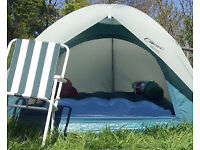 Outbound 'Rocky' 2/3 man dome tent, good condition, includes pegs, packs up small