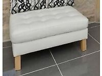 Leather Footstools - IKEA White Karlsfors Footstools x 2